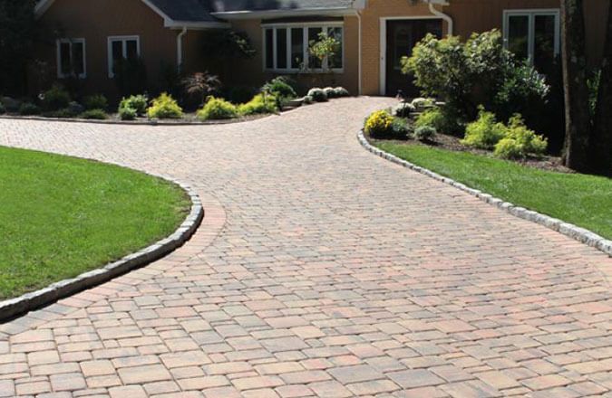 brick colonial stone patio pavers walkway