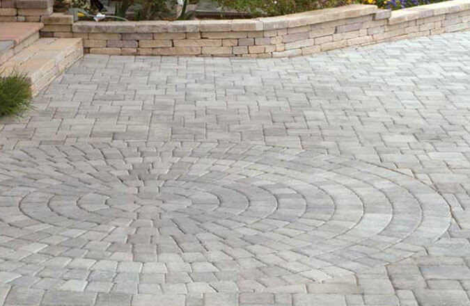 polymeric sand stone patio pavers